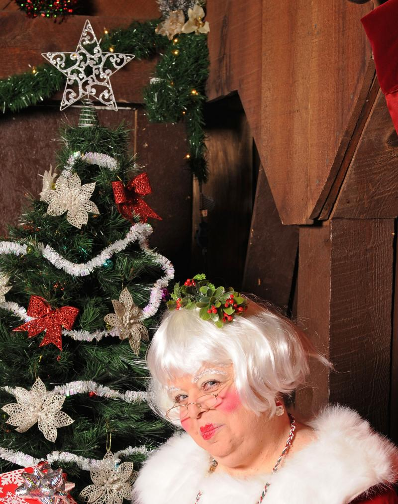 Mrs. Claus aka Susi Wolf in Albuquerque, New Mexico
